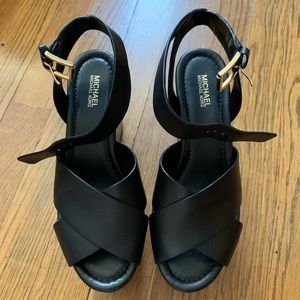 MICHAEL Michael Kors Wedges Shoe in Black All New